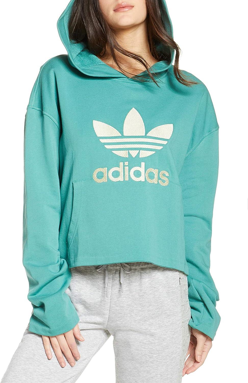 adidas Women's Originals Logo Applique Hoodie, Size X-Small - Blue