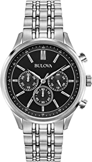 Bulova Classic Chronograph Mens Watch, Stainless Steel, Silver-Tone (Model: 96A211)