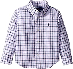 Plaid Stretch Poplin Shirt (Toddler)
