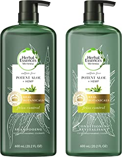 Sponsored Ad - Herbal Essences, Sulfate Free Shampoo & Conditioner, Potent Aloe + Hemp, Bio Renew, 20.2 Fl Oz Bundle