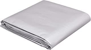 AmazonCommercial Multi Purpose Waterproof Poly Tarp Cover, 10 X 12 FT, 16MIL Thick, Silver/Black, 3-Pack