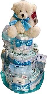 Tarta de pañales DODOT complementos CHICCO azul (Talla 2 (3-6 kg))