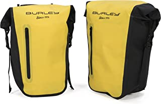 Burley Design Pannier Set, Roll-Top, Waterproof, 22L Total Capacity, 10mm Rack Bar Compatible
