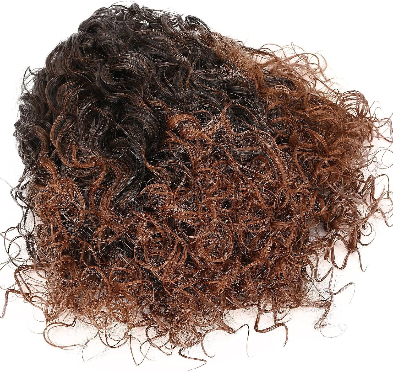 Mxzzand Curly Wig Soft Indianapolis Mall Hand Woman Feeling Black Wom Comfortable Fashionable
