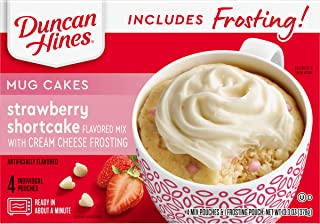 Duncan Hines Mug Cakes, Strawberry Cake and Frosting
