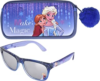 Frozen Sunglasses & Soft Fuzzy Carrying Case Set for...