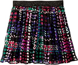 Dotty Plaid Skirt (Big Kids)