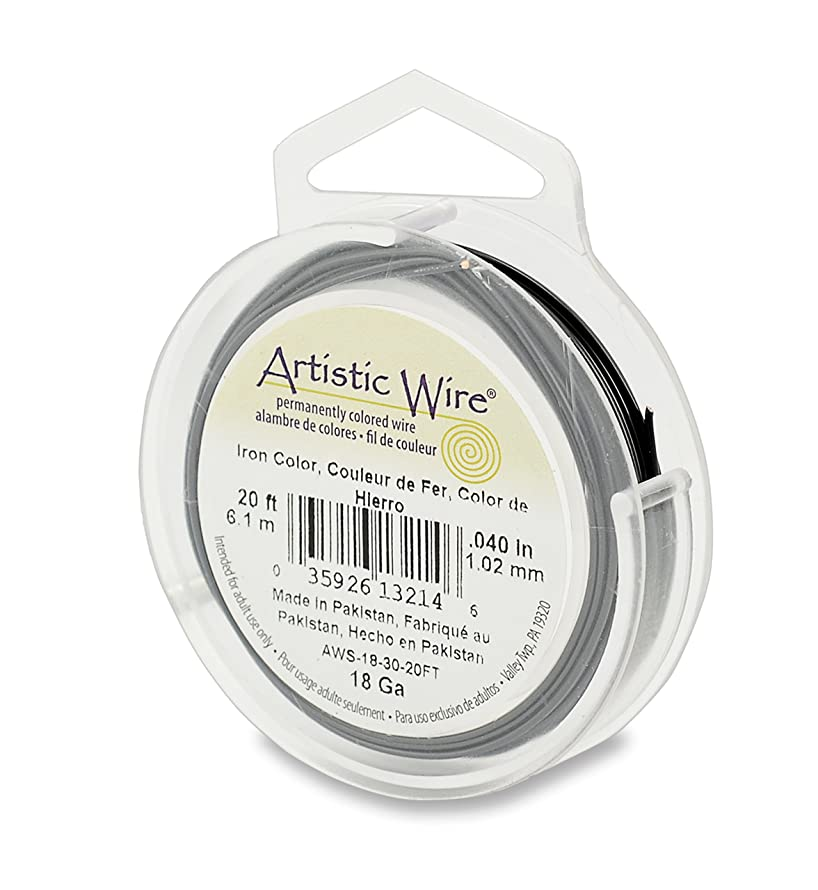 Artistic Wire 18 Gauge Iron Color Jewelry Making Wire, 20'