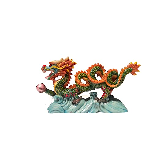 a830dcde2 NEW Chinese Feng Shui Dragon Figurine Statue for Luck & Success #S (multi3)