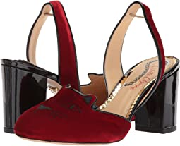 Red/Black Velvet/Patent