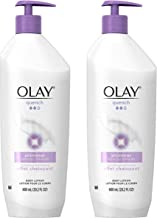 Olay Quench Shimmer Body Lotion, 20.2 fl oz (Pack of 2) Packaging May Vary