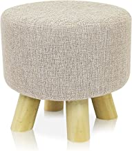 DL furniture - Round Ottoman Foot Stool, Tri Stands Round Shape