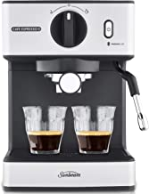 Sunbeam EM3820 Café Espresso II Coffee Machine | Espresso, Latte & Cappuccino Coffee Maker| 1.7L Water Tank | Milk Frother...