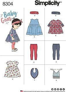 Simplicity Simplicity Schnittmuster 8304   Babys Outfits Größen S Quadratmuster M 45,7 L 50