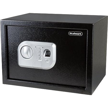 Caja de Seguridad para Pistola 275 * 190 * 50 Desbloqueo R/ápido de Huellas Dactilares mm Caja Fuerte Port/átil para Dinero Caja de Seguridad Biom/étrica de Huellas Dactilares