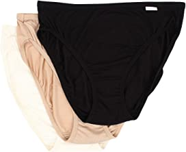 0ca09069765 Jockey Plus Size Elance® French Cut 3-Pack at Zappos.com
