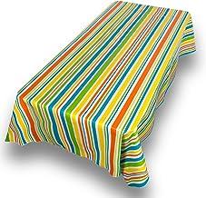 """غطاء طاولة من الفينيل مقاوم للانسكاب مستطيل الشكل مستدير الشكل بجودة المطاعم الثقيل من مجموعة سويت هوم 52"""" x 70"""" Oblong Pr..."""