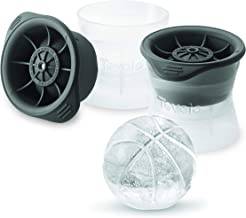 Tovolo Basketball Ice Molds, Set of 2 Basketball-Shaped Ice Sphere Molds, Stackable Sports Ice Molds, Sports-Themed Ice Ma...