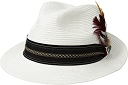 Poly Braid Pinch Front Fedora with Fancy Band