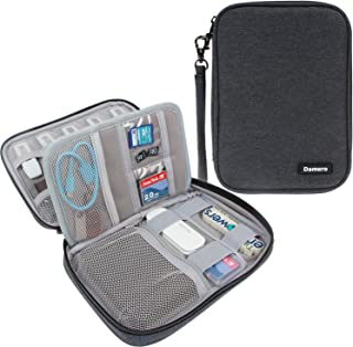Damero USB Flash Drive Bag for SD Cards, Memory Cards/Waterproof External Hard Drive Case (Large, Black)