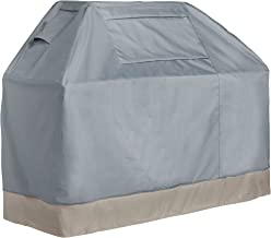 VonHaus BBQ Grill Cover - 'The Storm Collection' Premium Heavy Duty Waterproof Outdoor Barbecue Grill Protection - Slate Grey with Beige Trim L60 x W26 x H50