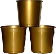 Church Offering Donation Buckets, Pack 3, Color Gold