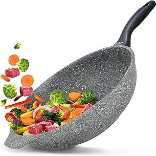 Koekenpan Premium met anti-aanbaklaag Korea Wok, Premium 5 jaar garantie, Vaatwasserbestendig | Geschikt voor alle warmteb...