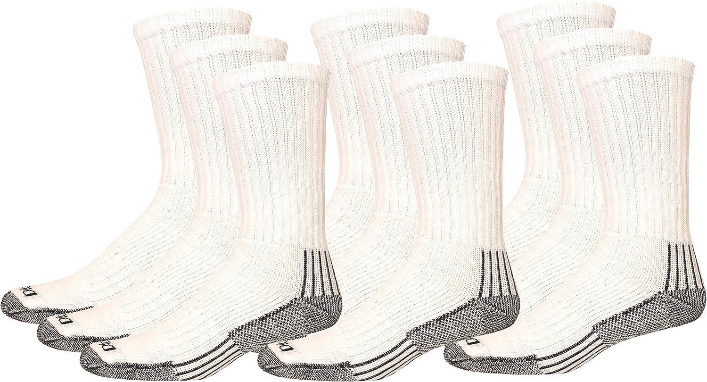 Dickies Mens Big and Tall 3 Pack Heavyweight Cushion Compression Work Crew Socks
