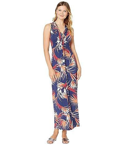 Tommy Bahama Fireworks Fronds Sleeveless Maxi Dress (Dubarry Coral) Women