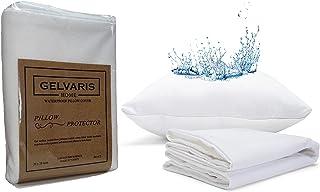 GELVARIS HOME Standart Size Waterproof Pillow Protector - Set of 2,%100 Cotton Terry Surface Pillow Encasement, Secret Sof...