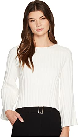 Side Slit Flare Sleeve Sweater