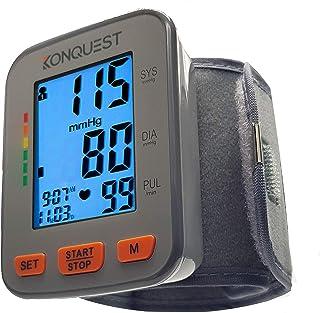 مانیتور فشار خون مچ دست اتوماتیک مانیتور Konquest KBP-2910W - دقیق - کاف قابل تنظیم ، صفحه نمایش بزرگ ، کیف قابل حمل - ضربان قلب نامنظم