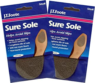 J.T.Foote Sure Sole No Slip Anti Skid Shoe Pads, Small (2)