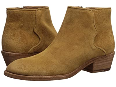 Frye Carson Piping Bootie (Brandy Oiled Suede) Women
