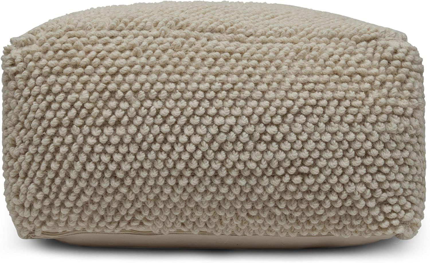 Christopher Knight Home Stene Pouf Challenge the 1 year warranty lowest price of Japan ☆ Ivory