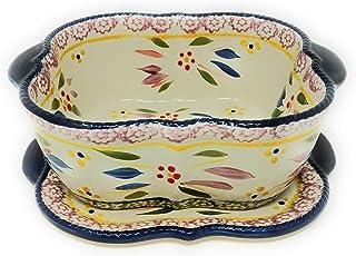 Temp-tations Baking Dish/Baker/Casserole Dish 1.5 Qt w/Lid-It (Trivet) (Old World Confetti)