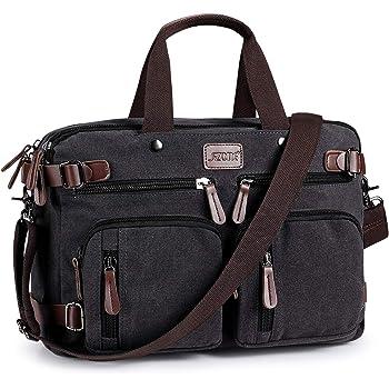S ZONE 3 Way Convertible Laptop Backpack Messenger Shoulder Bag Hybrid Briefcase