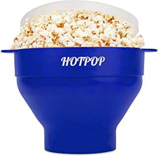 The Original Hotpop Microwave Popcorn Popper-17 Color choices, Silicone Popcorn Maker, Collapsible Bowl Bpa Free and Dishw...