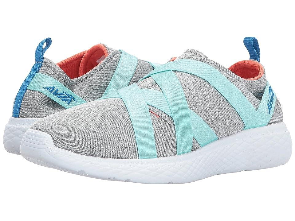 Avia Kids Avi-Karma (Little Kid/Big Kid) (Chrome Silver/White/Aruba Aqua/Brilliant Blue) Girls Shoes