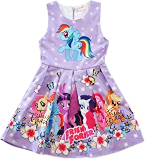95f6388c1 wenchoice Girls Lavender My Little Pony Friends Forever A-Line Dress 9M-8