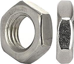 OPIOL QUALITY® Zeskantmoeren lage vorm DIN 439 M2 van roestvrij staal A2 V2A (50 stuks) platte moeren moeren halve moeren ...