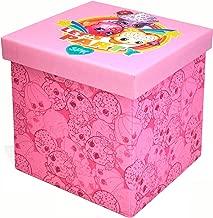 Shopkins Sit & Store Ottoman, Pink, 15 x 15x 15
