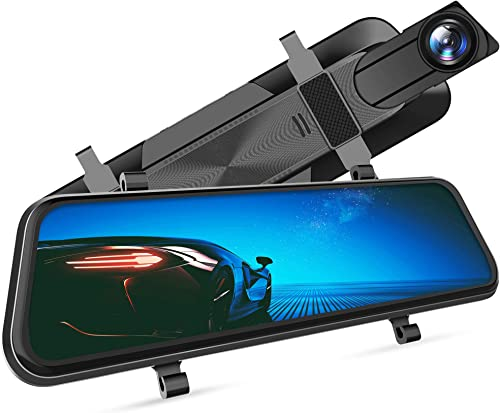 """VanTop H610 10"""" 1440P Mirror Dash Cam for Cars with Full Touch Screen, Waterproof Rear View Mirror Camera, Enhanced N..."""
