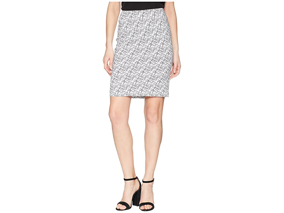 Krazy Larry Pull-On Skirt (White/Black Sticks) Women
