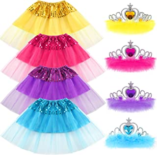 G.C Princess Dress up Clothes for Little Girls Gift Tiara Set Birthday Bellet Party Favors Tutu Skirts for Girls