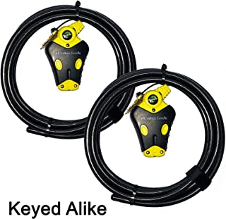 Master Lock - Two 12 ft Python Adjustable Cable Locks Keyed Alike, 8413KACBL-1212
