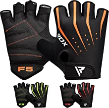 RDX Weight Lifting Gloves for Gym Workout - Breathable with Padded Anti Slip Palm Protection - Great for Fitness, Bodybuilding, Powerlifting, Strength Training, Weightlifting, Cycling & Exercise