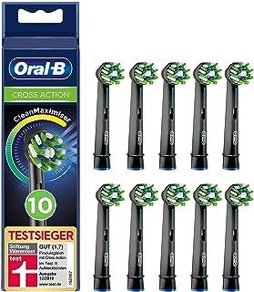 Oral-B CrossAction Opzetborstel Black Edition Met CleanMaximiser-technologie, Verpakking Van 10 Stuks