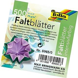 Folia Origami Paper 6-Inch-Circle Assorted Colors 500 Sheet Bulk Pack, Multi-Coloured, 15 cm