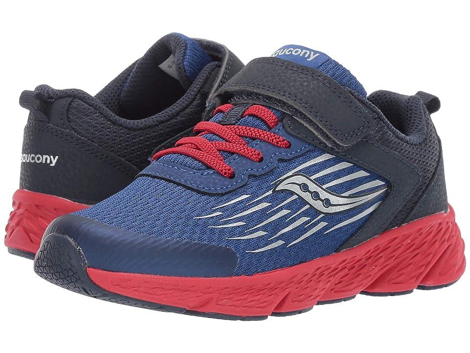 Saucony Kids Wind A/C (Little Kid/Big Kid) (Navy) Boys Shoes
